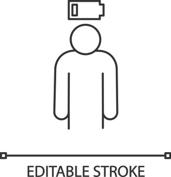 Mental exhaustion linear icon