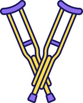 Axillary crutches color icon