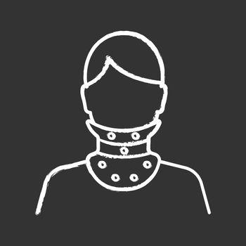 Cervical collar chalk icon