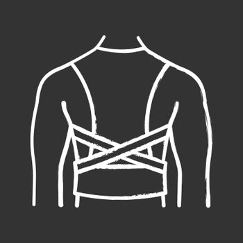 Posture corrector chalk icon