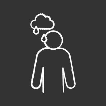 Sadness chalk icon