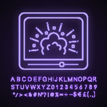 Visual effects neon light icon