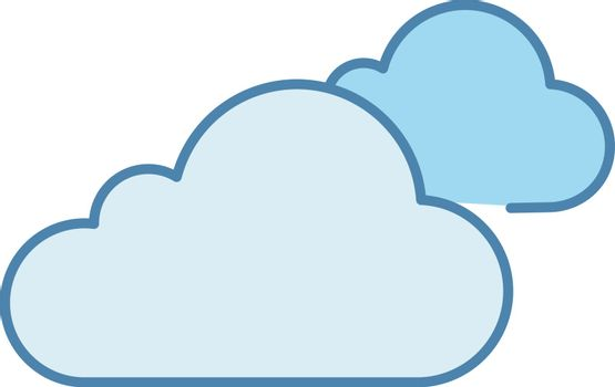 Cloudy weather color icon. Clouds. Heavy clouds. Overcast. Weather forecast. Isolated vector illustration