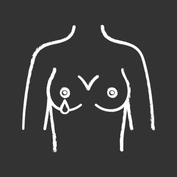 Nipple discharge chalk icon