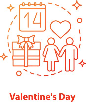 Valentine's Day concept icon