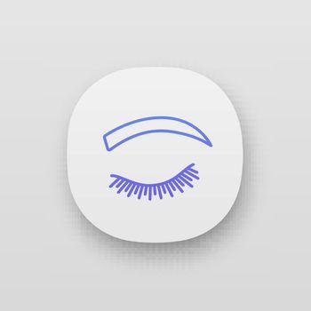 Rounded eyebrow shape app icon