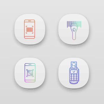 Barcodes app icons set