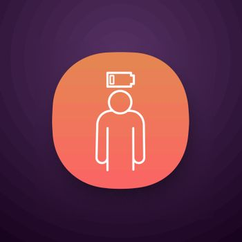 Mental exhaustion app icon