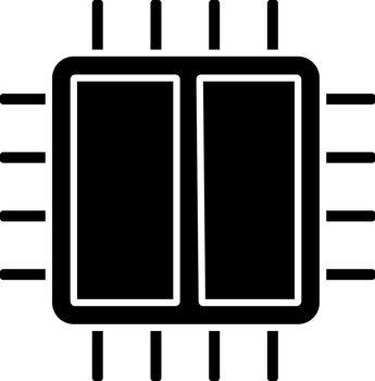 Dual core processor glyph icon