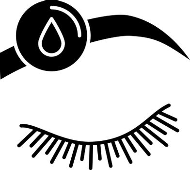 Makeup removal glyph icon