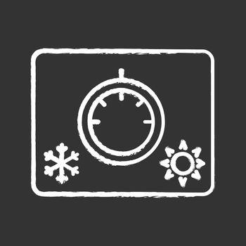Climate control knob chalk icon