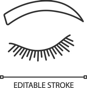 Rounded eyebrow shape linear icon