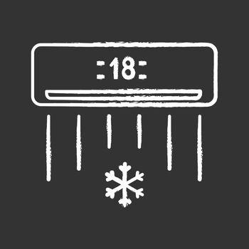 Air conditioner chalk icon