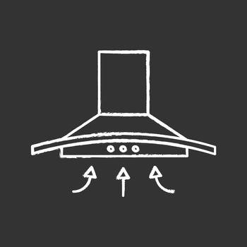 Range hood chalk icon