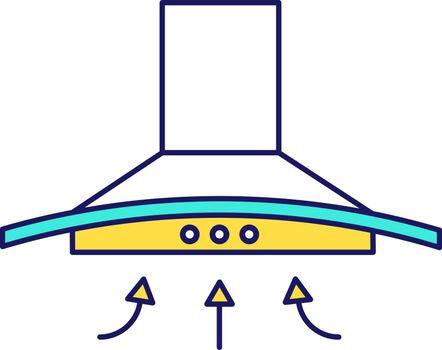 Range hood color icon
