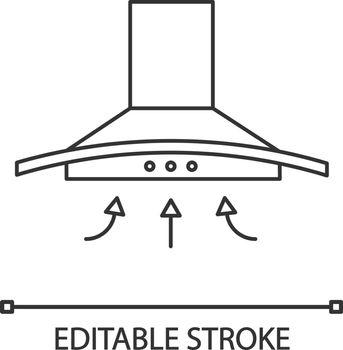 Range hood linear icon