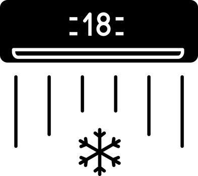 Air conditioner glyph icon