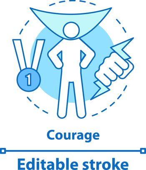 Courage concept icon