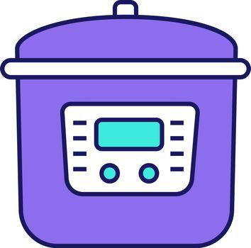 Multi cooker color icon