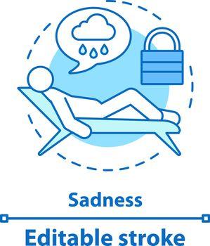 Sadness concept icon
