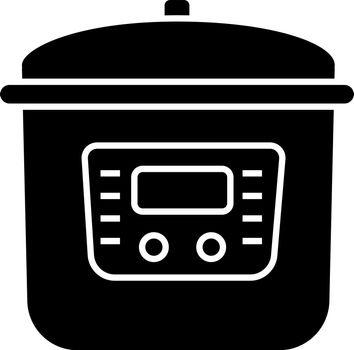 Multi cooker glyph icon