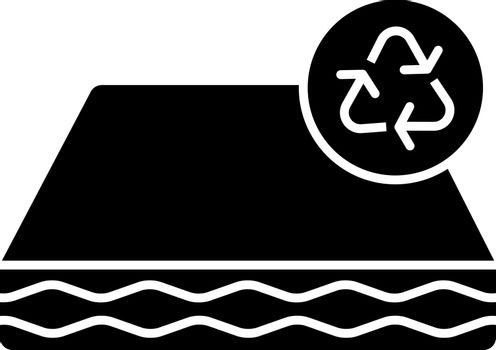Ecological mattress recycling glyph icon