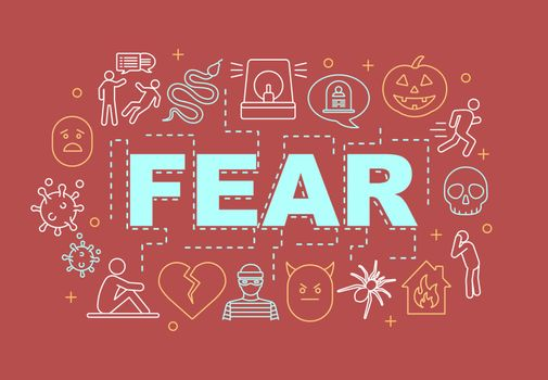 Fear word concepts banner