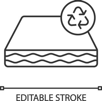 Ecological mattress recycling linear icon