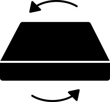Dual season two-sided mattress glyph icon