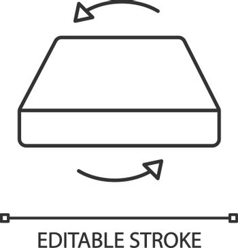 Dual season two-sided mattress linear icon