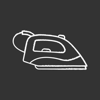 Steam iron chalk icon