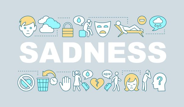 Sadness word concepts banner