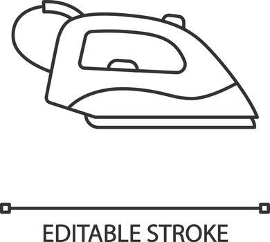 Steam iron linear icon