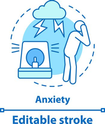 Anxiety concept icon