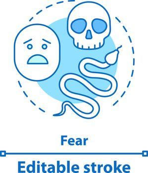 Fear concept icon