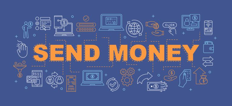 Money transfer word concepts banner