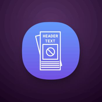 Protest leaflet app icon