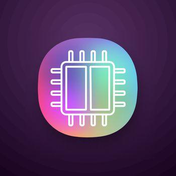 Dual core processor app icon