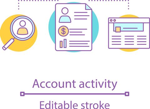 Account activity concept icon