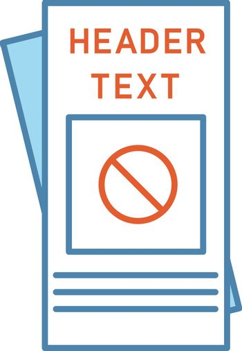 Protest leaflet color icon