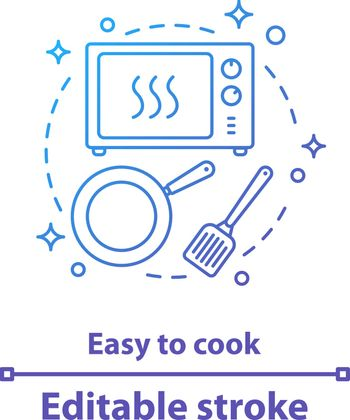 Easy to cook concept icon