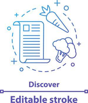 Discover recipe concept icon