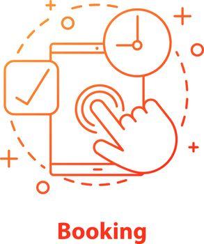 Booking concept icon