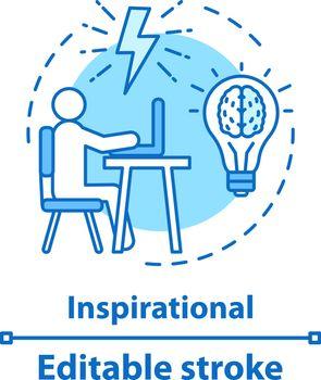 Inspiration concept icon