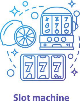 Slot machine concept icon