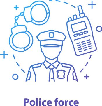 Police force concept icon