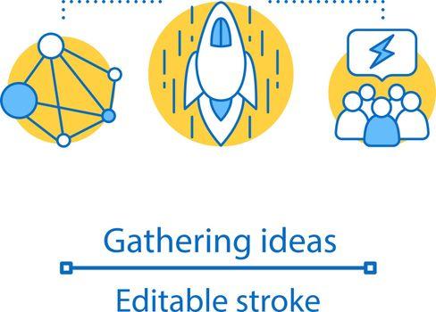 Gathering ideas concept icon