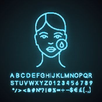 Makeup removal neon light icon