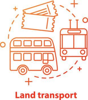 Land transport concept icon