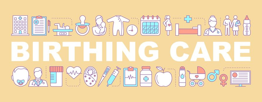Birthing care word concepts banner